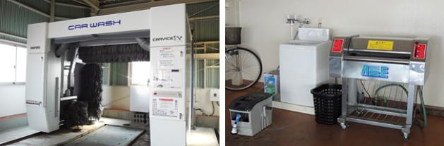 最新式の自動洗車機を導入